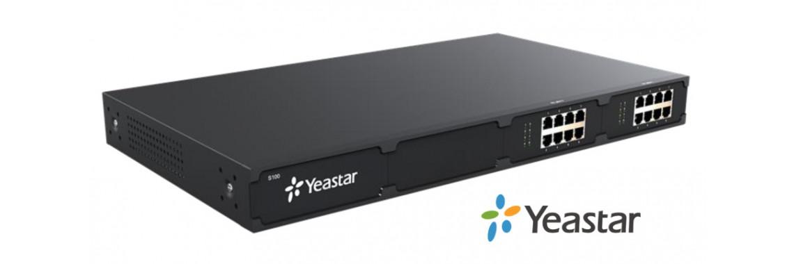 Yeastar S100 — Офисная IP-АТС: 100 абонентов, 16 x FXS/FXO/GSM